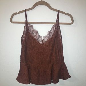 Silky Lacey Cami Top